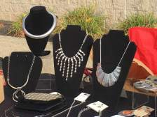 Several vendors sold famous maker jewelry. {Photo credit (c) Kim M. Bennett, 2016}